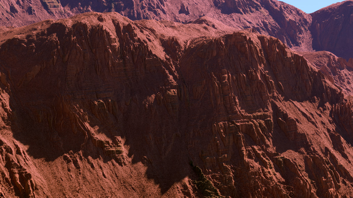Arid Cliffs - Complete scene download - CG Landscapes and